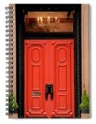 Red Door On New York City Brownstone Spiral Notebook