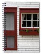 Red Door Red Window Spiral Notebook