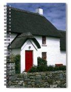 Red Door Thatched Roof Spiral Notebook