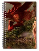 Red Dragon And Nude Bather Spiral Notebook