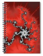 Red Energy - Abstract Fractal Artwork Spiral Notebook