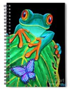 Red-eyed Tree Frog And Butterfly Spiral Notebook