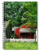 Red Farm Shed Spiral Notebook
