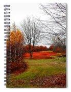 Red Field Autumn Spiral Notebook