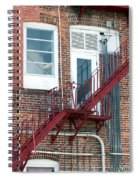 Red Fire Escape Usa II Spiral Notebook