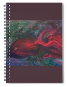 Red Fish Spiral Notebook