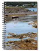 Red Flat At Low Tide Spiral Notebook