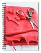 Red Fleece Spiral Notebook