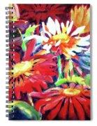 Red Floral Mishmash Spiral Notebook