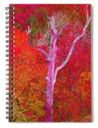 Pink Tree In A  Red Forest Spiral Notebook
