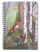 Red Fox And Cardinals Spiral Notebook