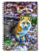 Red Fox At Home Spiral Notebook