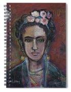 Red Frida 2013 Spiral Notebook