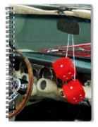 Red Fuzzy Dice In Converible Spiral Notebook