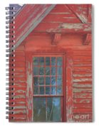 Red Gable Window Spiral Notebook
