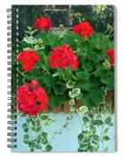 Red Geranium 1 Spiral Notebook