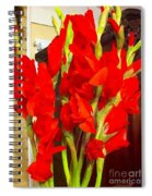 Red Glads Blooming Spiral Notebook