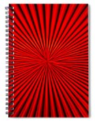 Red Glass Abstract 1 Spiral Notebook