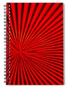 Red Glass Abstract 3 Spiral Notebook