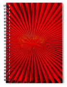 Red Glass Abstract 4 Spiral Notebook