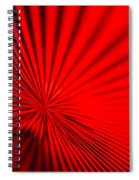 Red Glass Abstract 7 Spiral Notebook