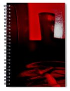 Red Glass Spiral Notebook