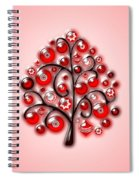 Red Glass Ornaments Spiral Notebook