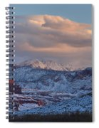 Red Glow In A Sea Of White - Panorama Spiral Notebook