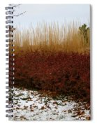 Red Gold Hedge Spiral Notebook