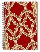 Gothic Pattern On Red Spiral Notebook