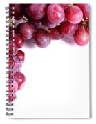 Red Grapes With White Copy Space Spiral Notebook