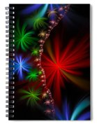 Red Green And Blue Fractal Stars Spiral Notebook