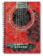 Red Guitar Center - Digital Painting - Music Spiral Notebook