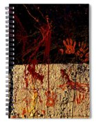 Red Hands Spiral Notebook