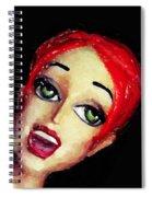 Red Head Around Corner Spiral Notebook