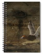 Red Head Duck Old Box Spiral Notebook