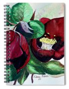 Red Helleborous Spiral Notebook