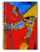 Red Horse Spiral Notebook