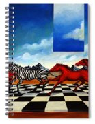 Red Horses With Zebra Spiral Notebook