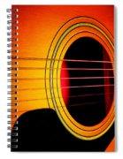 Red Hot Guitar Spiral Notebook
