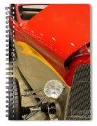 Street Car - Red Hot Rod Spiral Notebook