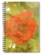 Red Hot Rose Spiral Notebook