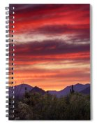 Red Hot Sonoran Sunset Spiral Notebook