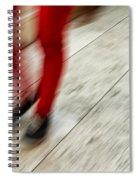 Red Hot Walking Spiral Notebook