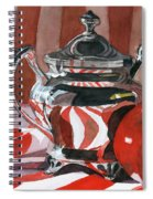 Red In Silver Spiral Notebook