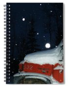 Red International Singing Those Deep Winter Blues  Spiral Notebook