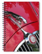 Red Jaguar 3.8 Spiral Notebook