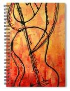 Red Jazz 3 Spiral Notebook