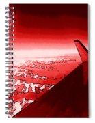 Red Jet Pop Art Plane Spiral Notebook