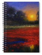 Red Lagoon Spiral Notebook
